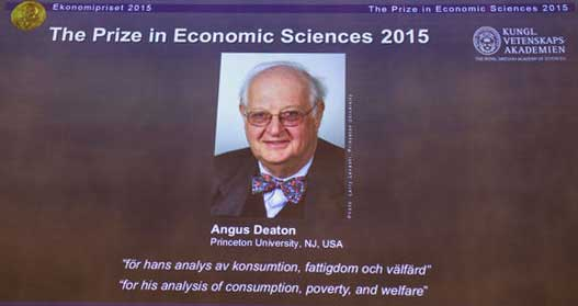 The Nobel prize goes to Angus Deaton